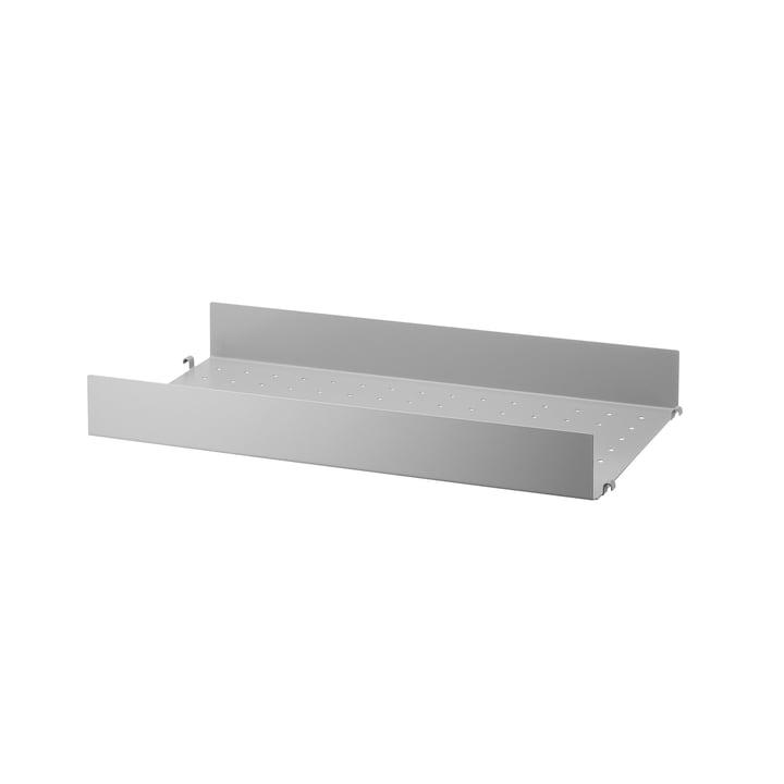 Metallboden mit hoher Kante 58 x 30 cm von String in Grau