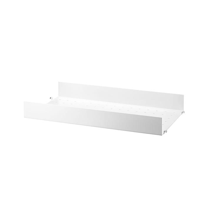Metallboden mit hoher Kante 58 x 30 cm von String in Weiß