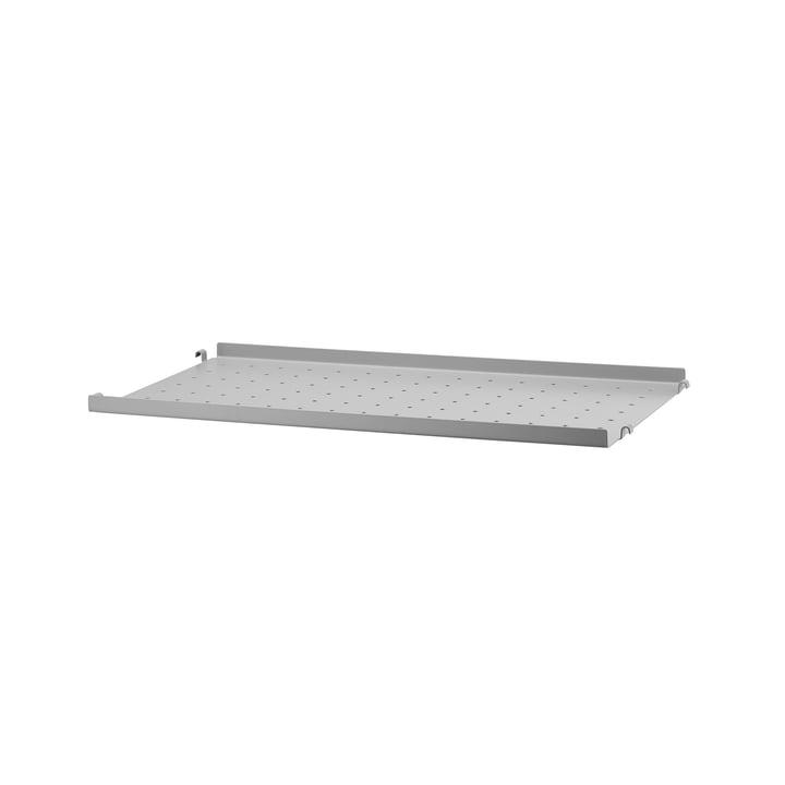 Metallboden mit niedriger Kante 58 x 30 cm von String in Grau
