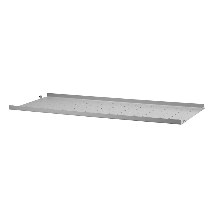 Metallboden mit niedriger Kante 78 x 30 cm von String in Grau