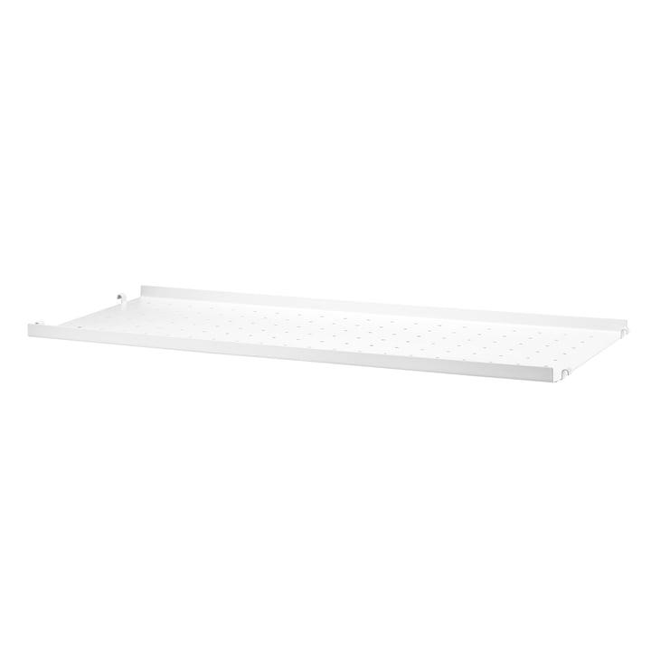 Metallboden mit niedriger Kante 78 x 30 cm von String in Weiß