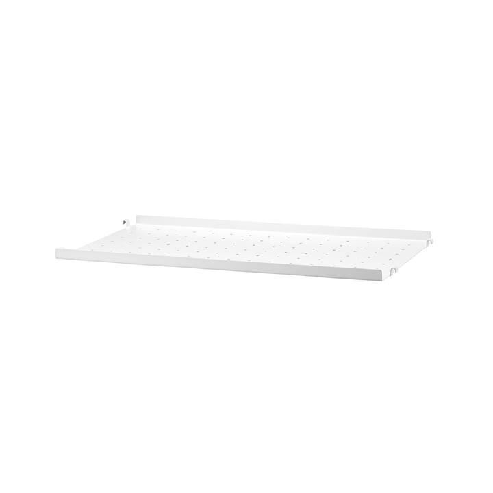 Metallboden mit niedriger Kante 58 x 30 cm von String in Weiß