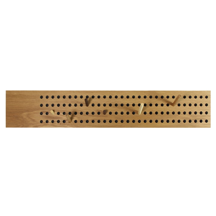 Die We Do Wood - Scoreboard Garderobe horizontal in Eiche natur