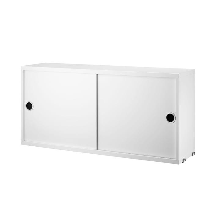 Schrankmodul mit Schiebetüren 78 x 20 cm von String in Weiß
