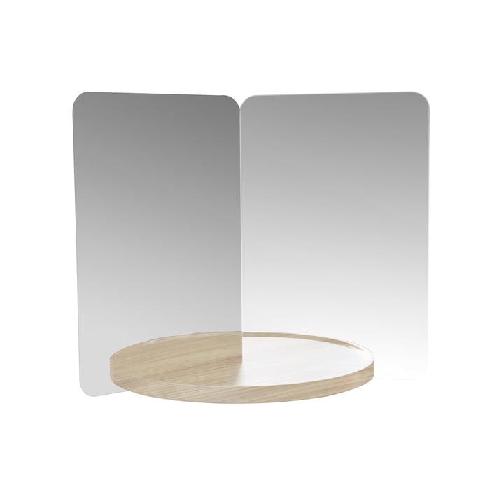 124° Mirror mit Ablage medium von Artek in Esche