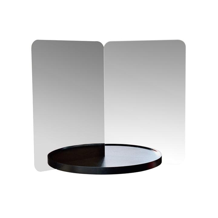 124° Mirror mit Ablage medium von Artek in Schwarz