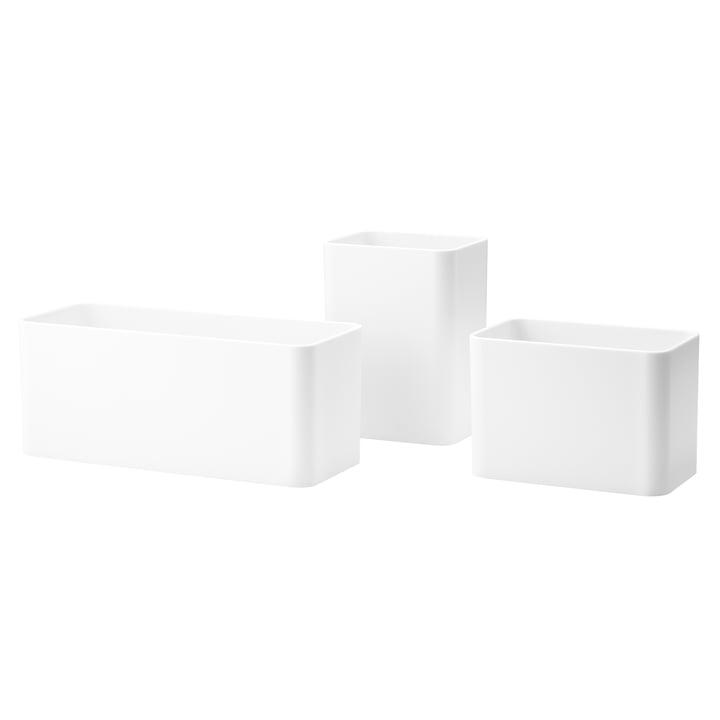 Organizer Boxen (3er-Set) von String in Weiß