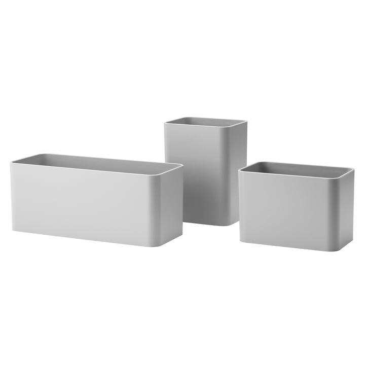 Organizer Boxen (3er-Set) von String in Grau