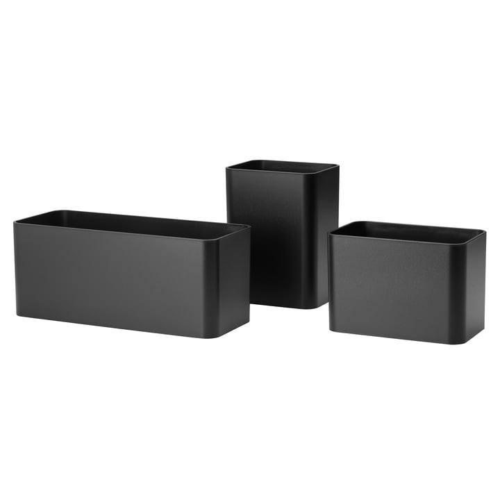 Organizer Boxen (3er-Set) von String in Schwarz