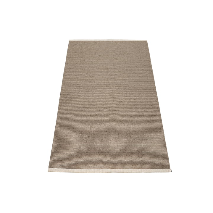 Mono Teppich, 60 x 150 cm von Pappelina in Dark Mud / Mud