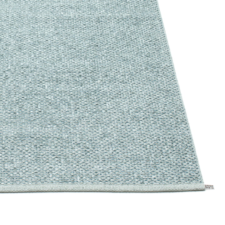 Pappelina - Svea Teppich, azurblue metallic / pale turquoise