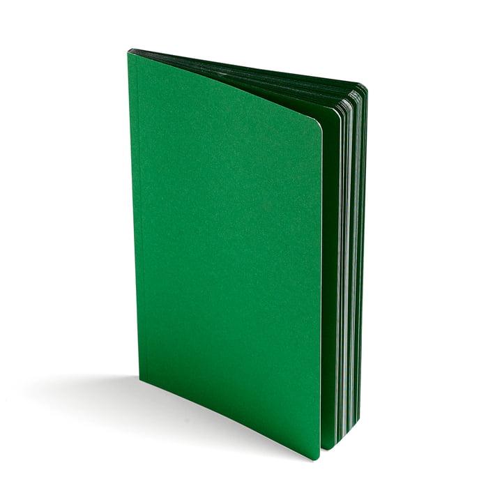 Edge Notizbuch von Hay in Grün / Silber