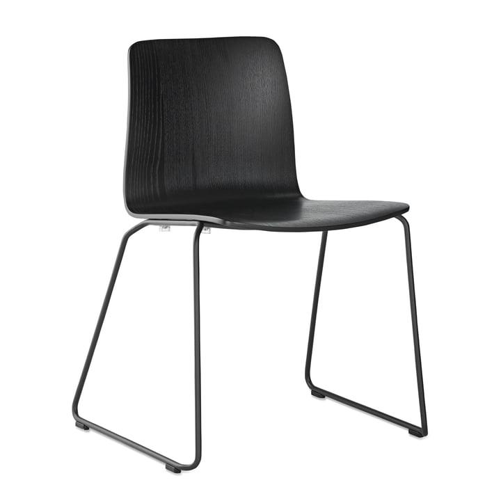 JW01 Stuhl von Hay in Esche schwarz gebeizt / Stahl schwarz pulverbeschichtet