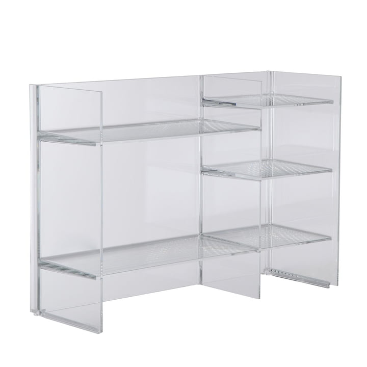 Kartell - Sound-Rack Regal, glasklar