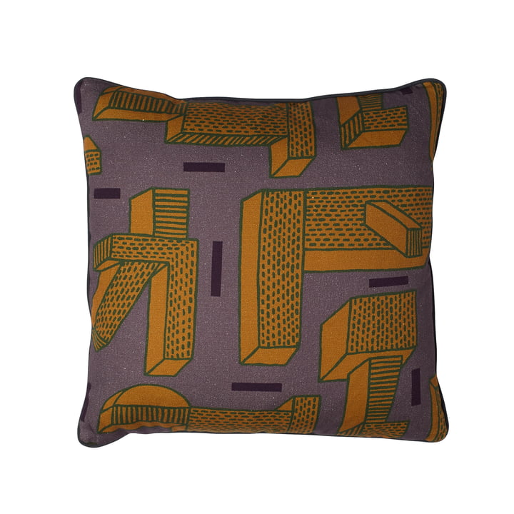 Printed Cushion NDP In The Grass von Hay in Ocre