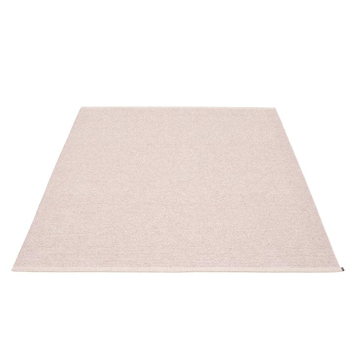 Mono Teppich 180 x 220 cm von Pappelina in Pale Rose / Ballet