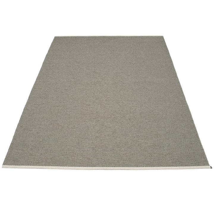 Mono Teppich 180 x 300 cm von Pappelina in Charcoal / Warm grey