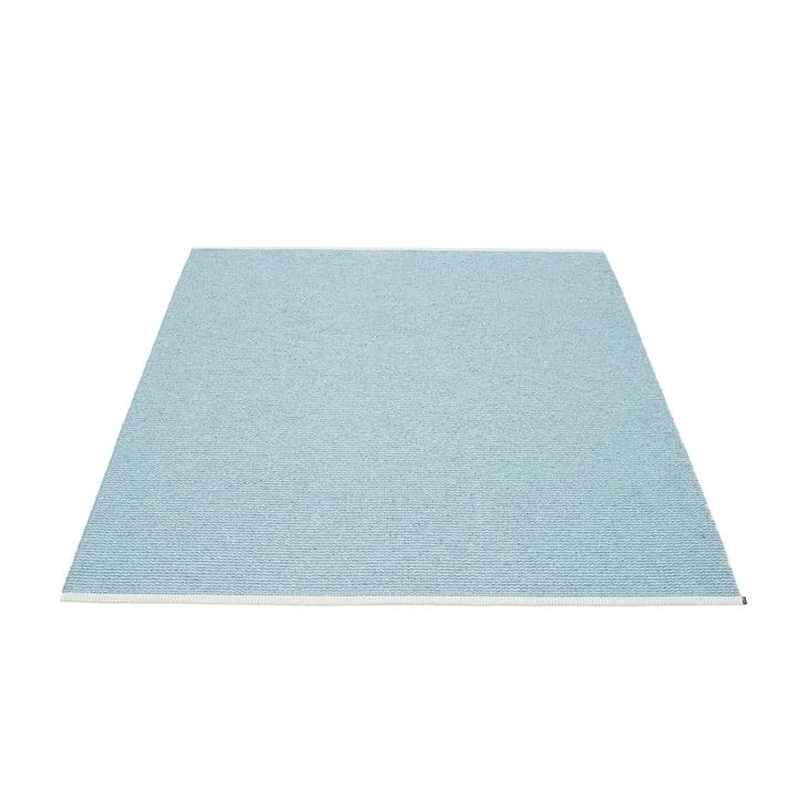 Mono Teppich 140 x 200 cm von Pappelina in Misty Blue / Ice Blue