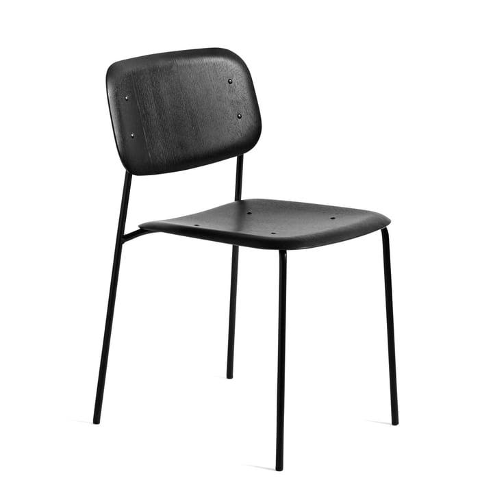 Soft Edge 10 Stuhl von Hay in Eiche schwarz gebeizt / Stahl schwarz pulverbeschichtet