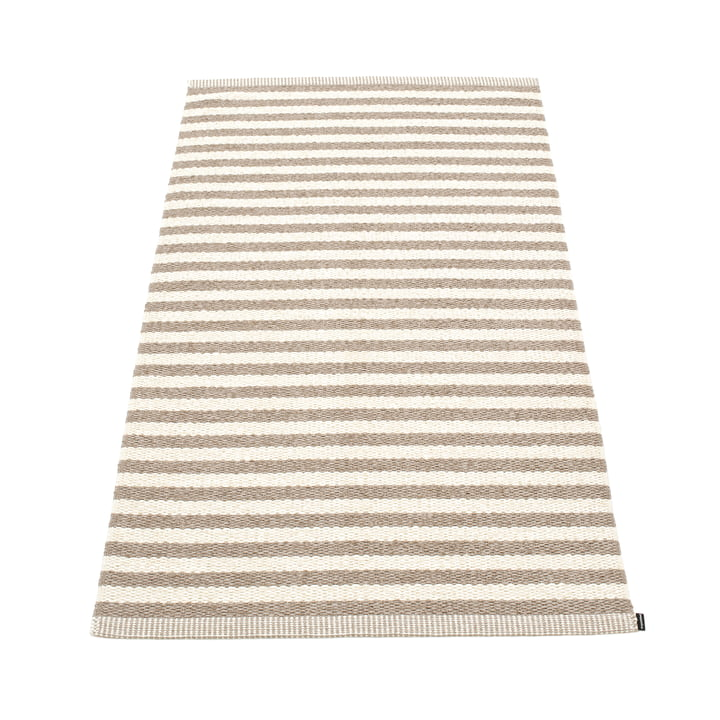 Duo Teppich 85 x 160 cm von Pappelina in Mud / Vanilla