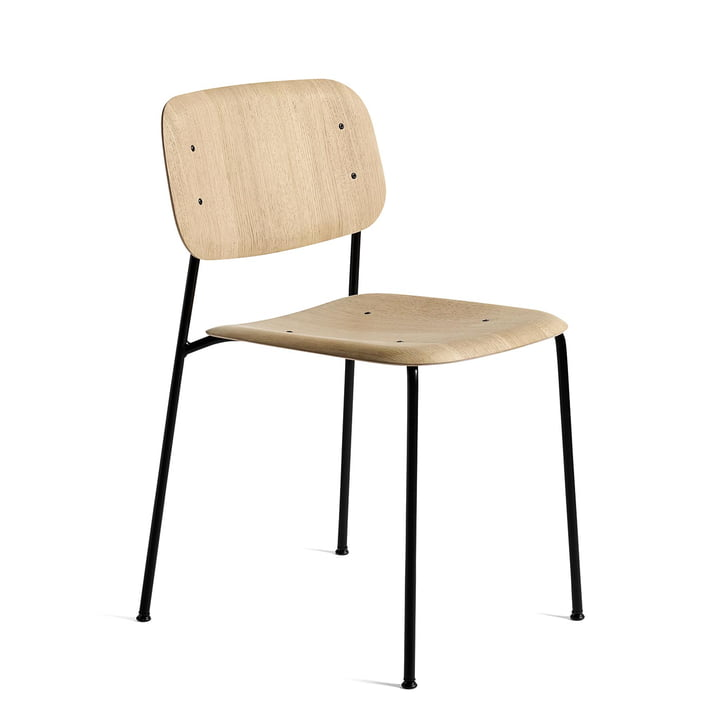 Soft Edge 10 Stuhl von Hay in Eiche matt lackiert / Stahl schwarz pulverbeschichtet