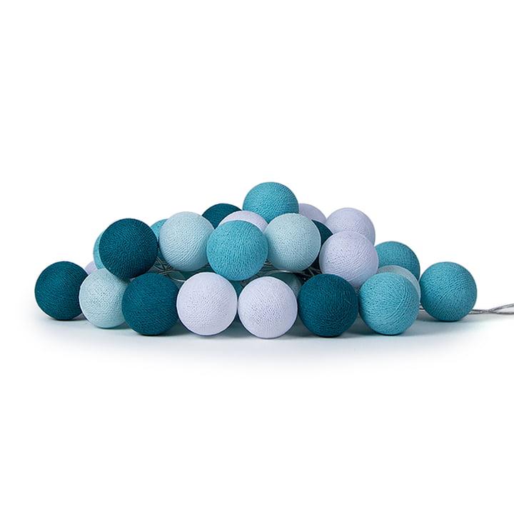 Lichterkette Aqua von Cotton Ball Lights