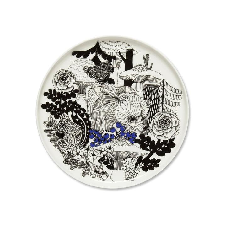 Veljekset Teller Ø 20 cm von Marimekko in Schwarz / Weiß