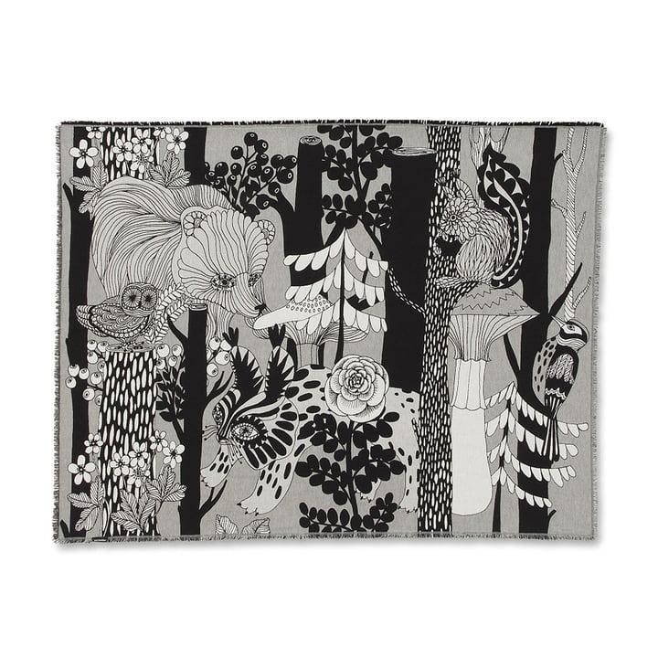 Veljekset Decke 130 x 180 cm von Marimekko in Schwarz / Weiß