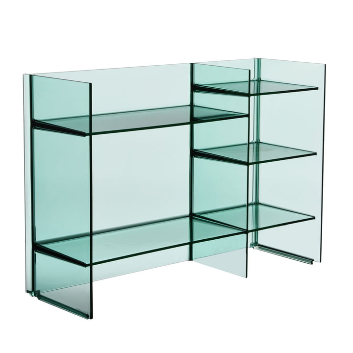 Kartell - Sound-Rack Regal, aquamarin