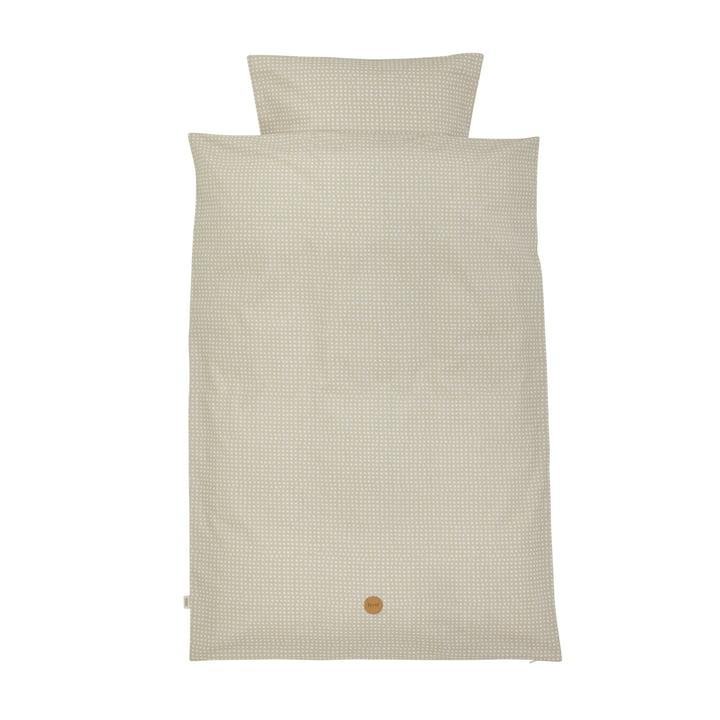Grey Cross Bettwäsche, Junior (Deckenbezug 100 x 140 cm /Kissenbezug 46 x 40 cm) von ferm Living