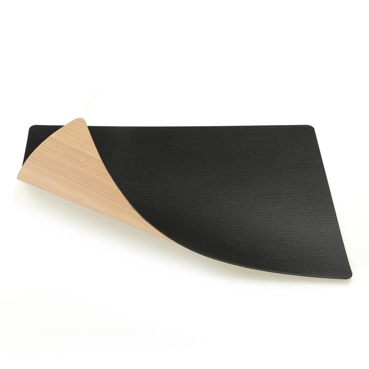 Tischset Square L (Holz) 35 x 45 cm von LindDNA in Eiche / Bull schwarz