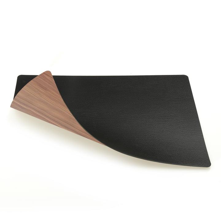 Tischset Square L (Holz) 35 x 45 cm von LindDNA in Walnuss / Bull schwarz