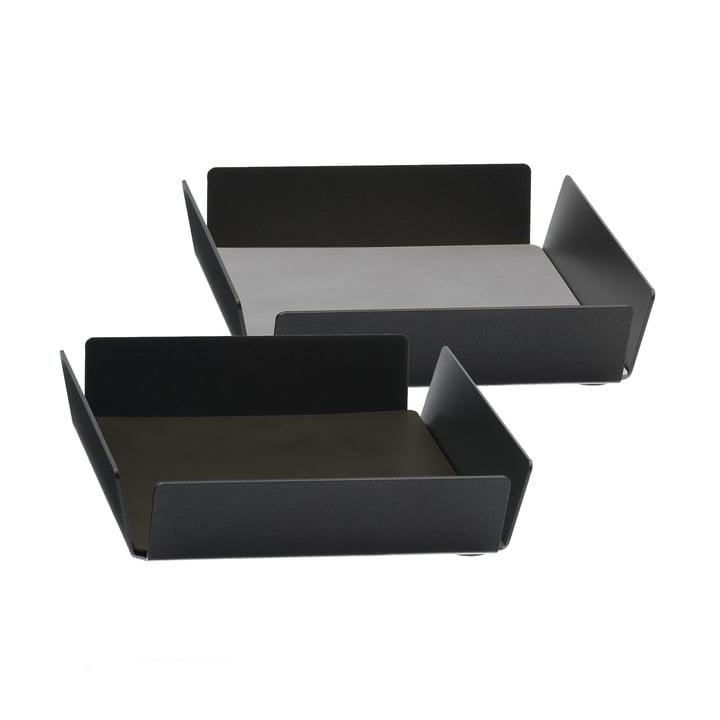 Tray Square Mini von LindDNA in Anthrazit und Double Cloud Braun / Nupo Hellgrau