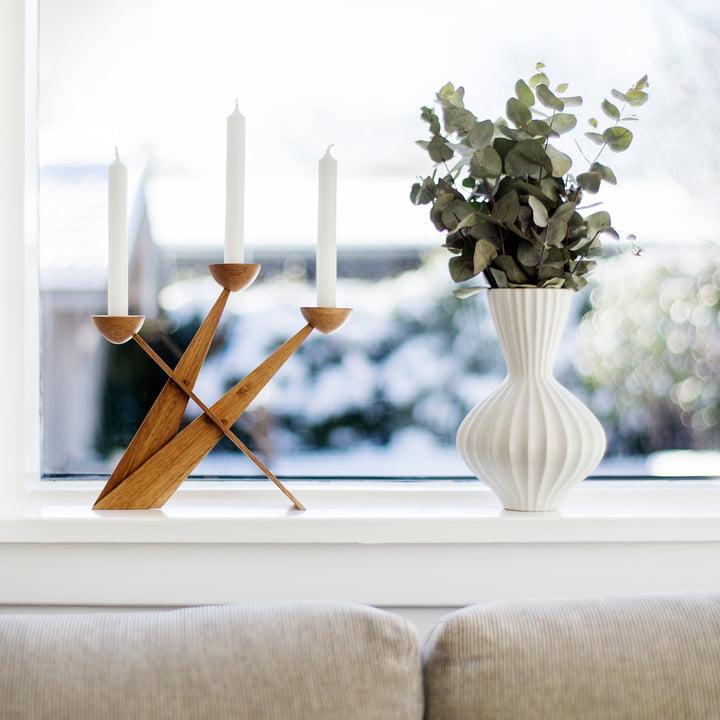 Caravel Kerzenständer von Spring Copenhagen aus Eiche