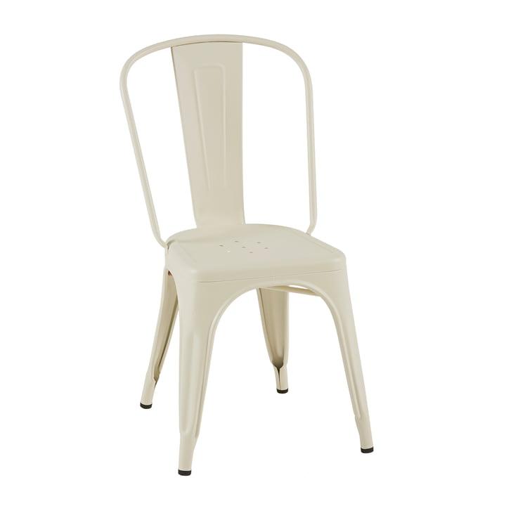 A Chair von Tolix in Elfenbein matt