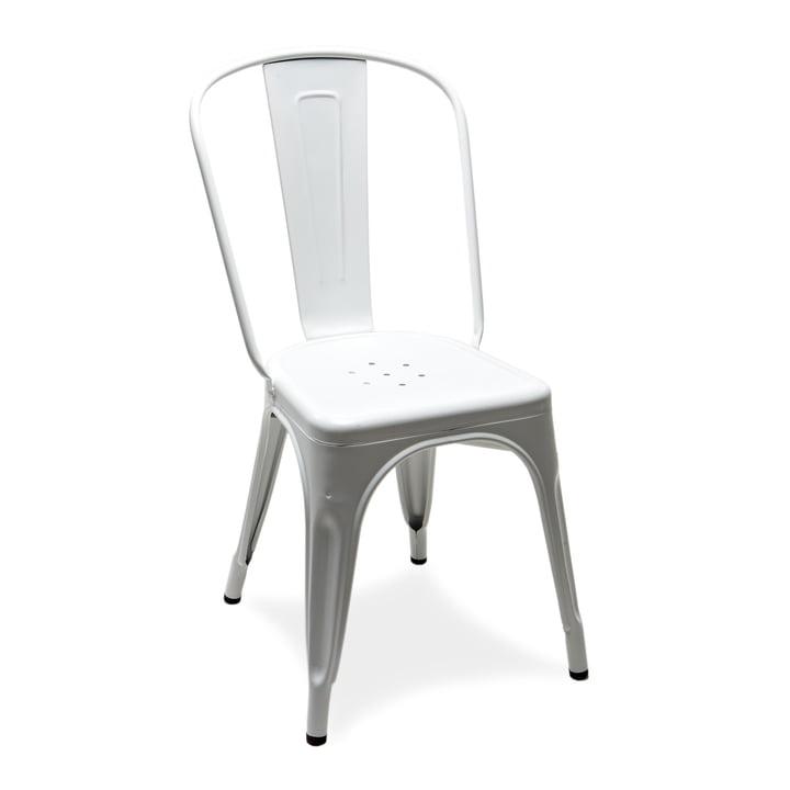 A Chair von Tolix in Weiß glänzend