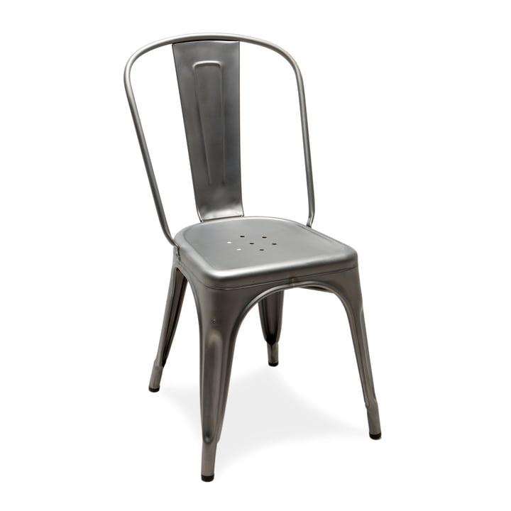 A Chair von Tolix aus satiniertem Stahl