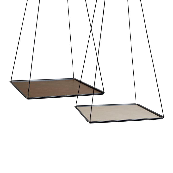 Pendulum Square von LindDNA in Stahl Schwarz mit Double Cloud Braun / Nupo Sand (2 mm)