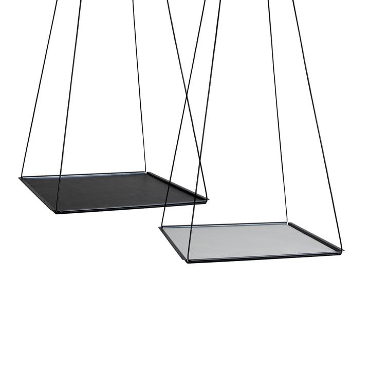 Pendulum Square von LindDNA in Stahl Schwarz mit Double Cloud Schwarz / Nupo Metallic (2 mm)