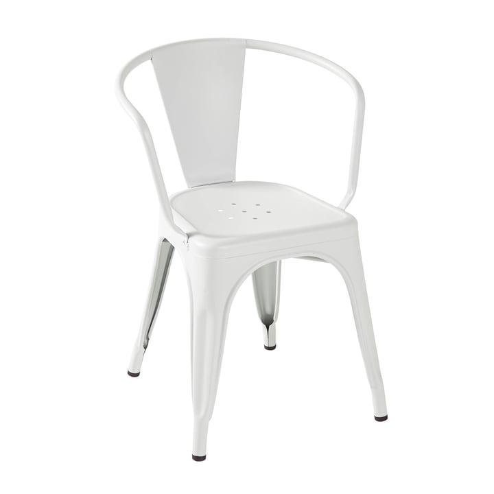 A56 Armchair von Tolix in Weiß matt