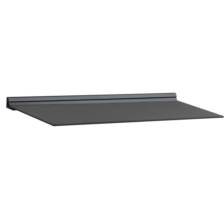 Slim Shelf M 20 x 45 cm von LindDNA in Nupo Schwarz / Stahl Schwarz