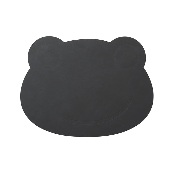 Frog Table Mat 38 x 28 cm von LindDNA in Nupo Anthrazit (1,6 mm)