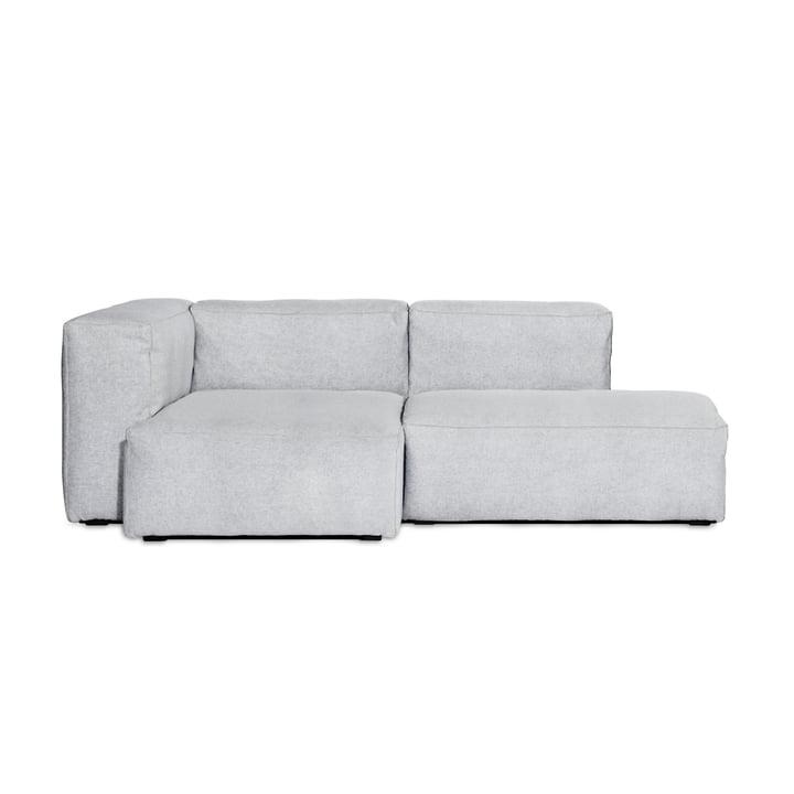 Hay - Mags Soft Sofa 2,5-Sitzer, Kombination 3, Armlehne links / hellgrau (Steelcut 120) / Nähte: hellgrau
