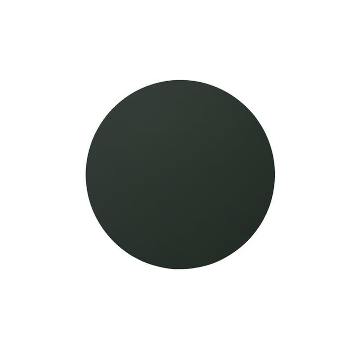 Glasuntersetzer rund Ø 10 cm von LindDNA in Softbuck dunkelgrün