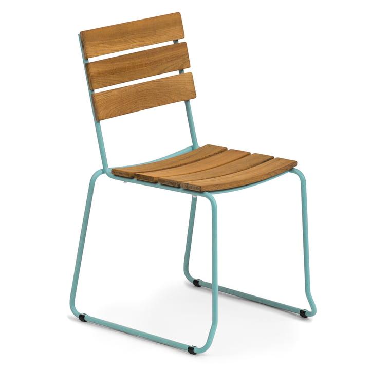 Weishäupl - Balcony Stuhl, Teak / pastellblau