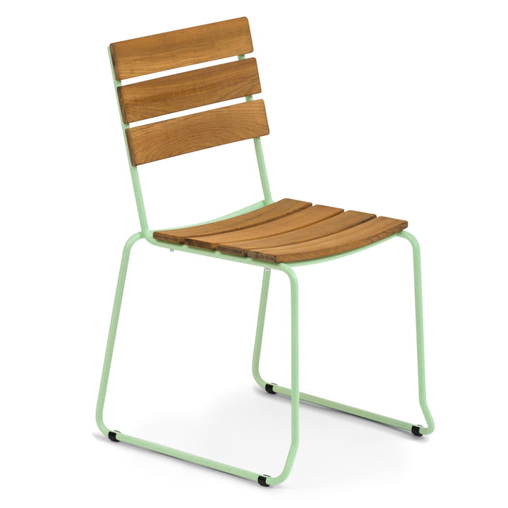 Weishäupl - Balcony Stuhl, Teak / pastellgrün