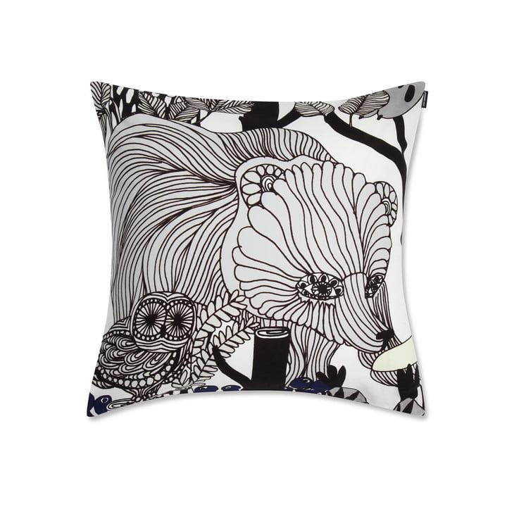 Marimekko - Veljekset Kissenbezug 50 x 50 cm, schwarz, weiß
