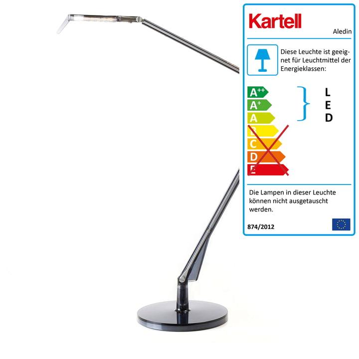 Kartell - Aledin Schreibtischleuchte Tec LED, fumé