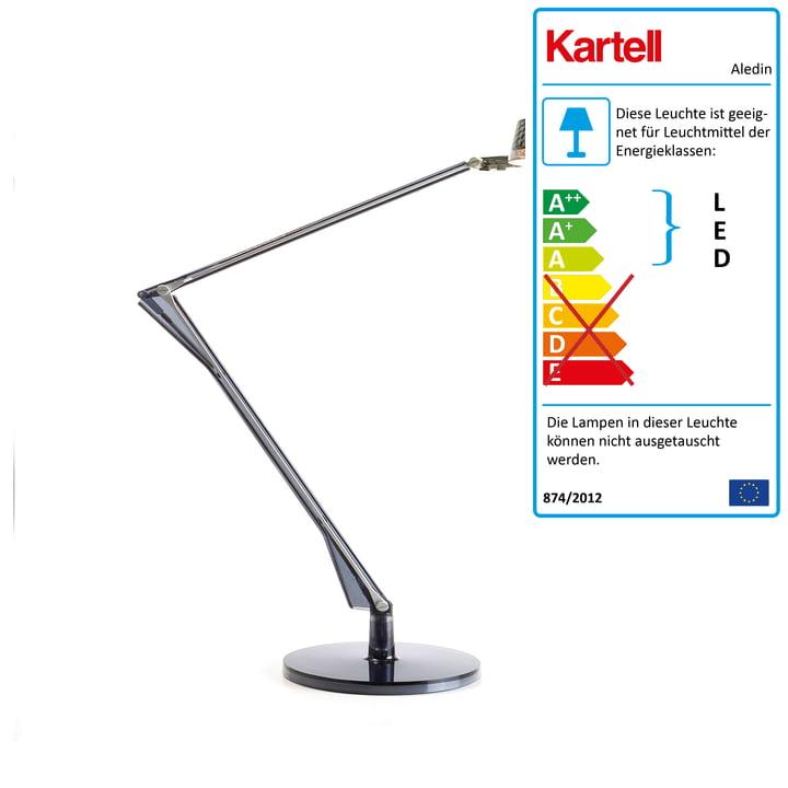Kartell - Aledin Schreibtischleuchte Dec LED, fumé