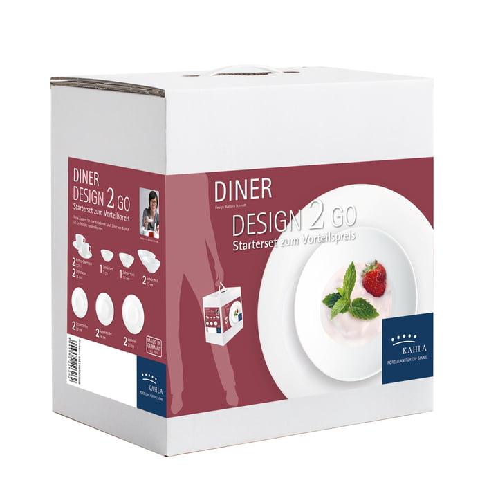 Dîner Design 2 Go Set von Kahla in Weiß (14 tlg.)